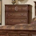 $659.00  Coaster Furniture - Edgewood Tall Traditional Chest with Drawers in Cherry - 202625