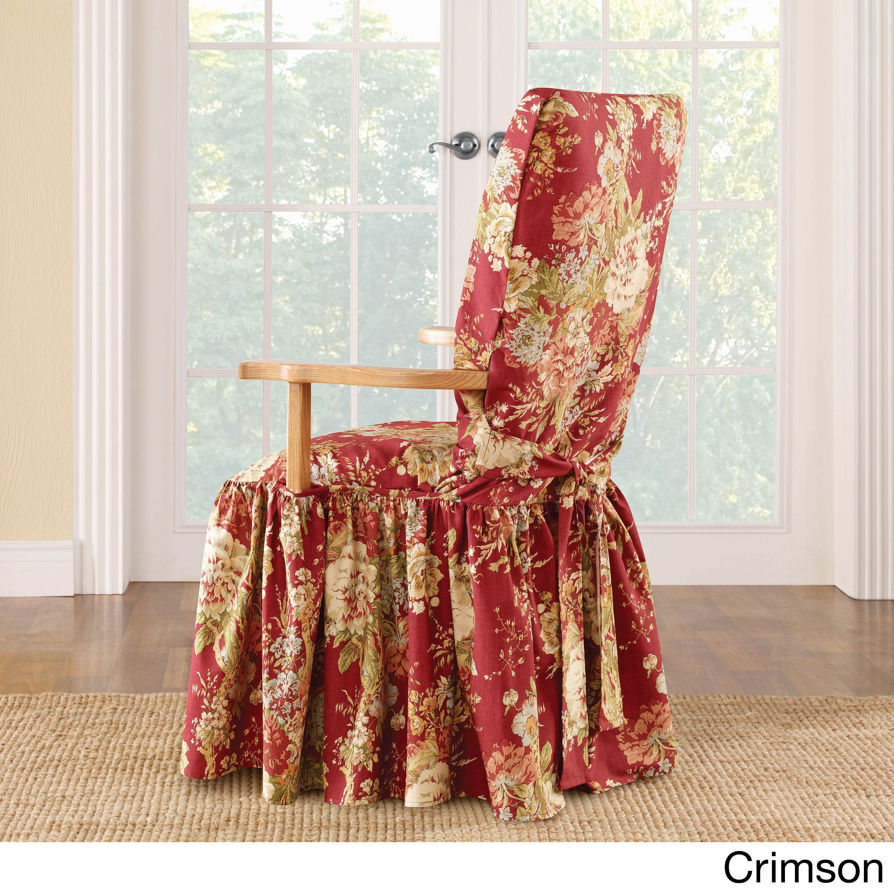 Sure Fit Ballad Bouquet Arm Dining Room Chair Slipcover Multi