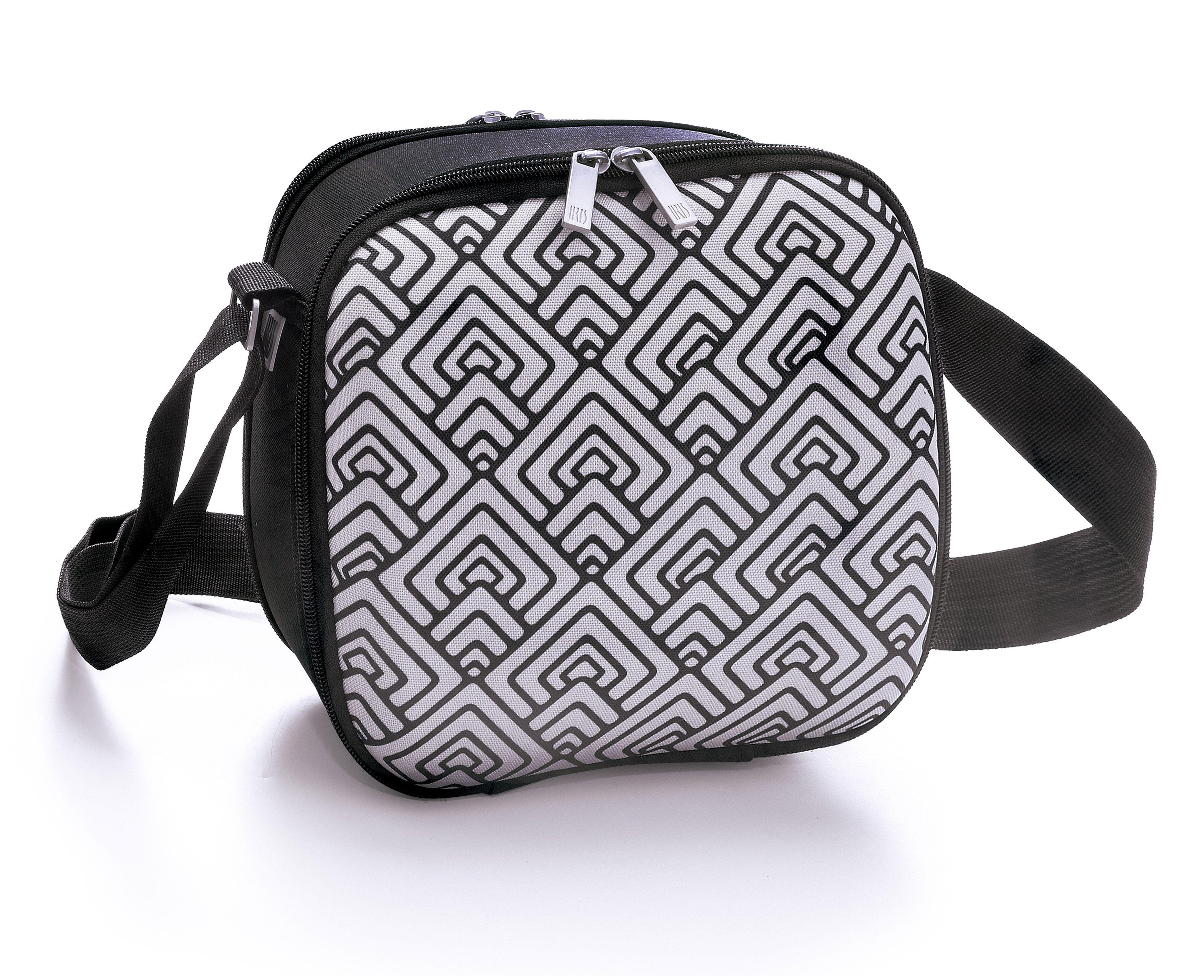 Cubic Lunchbag Happy en su versión de rombos. Un portalimentos muy estiloso.