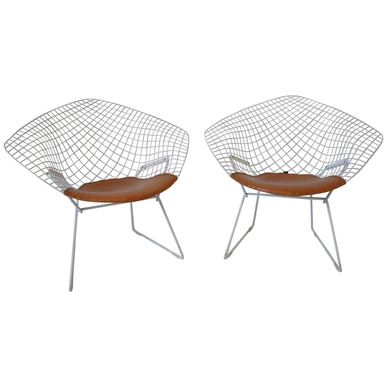Harry Bertoia Knoll Small Diamond Lounge Chairs