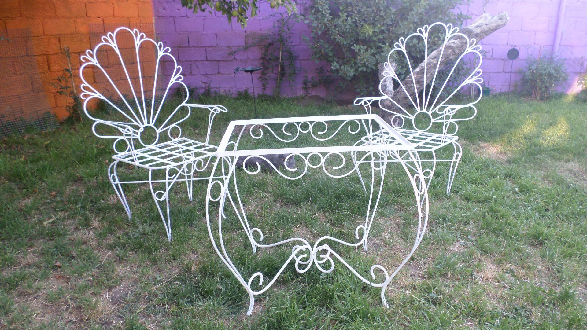 Juego de sillones y mesa | Muebles, accesorios y adornos en hierro ...