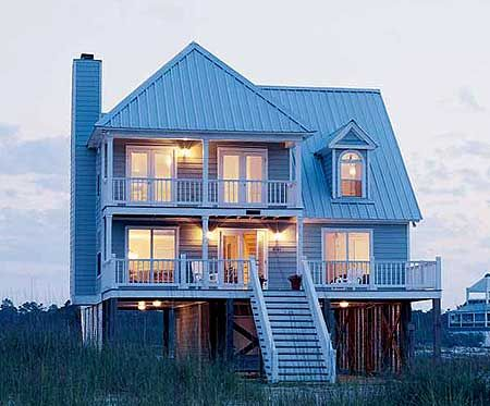 Plan 60050rc beach home plan perfection house plans for Narrow beach house plans on pilings