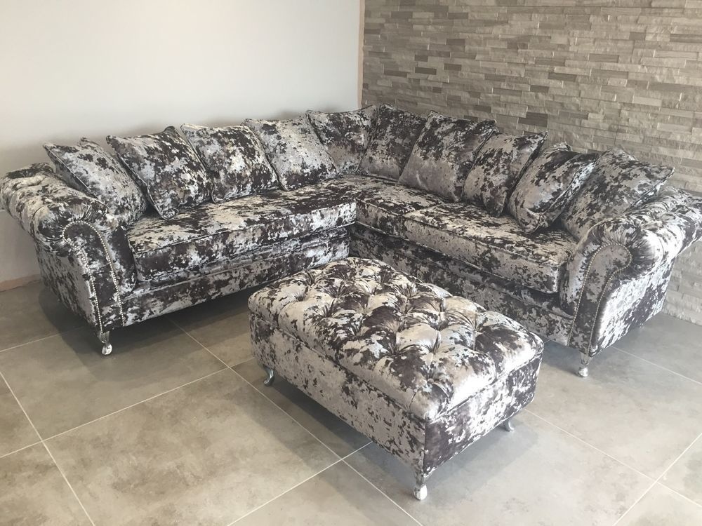 Crushed Velvet Sofa With Images