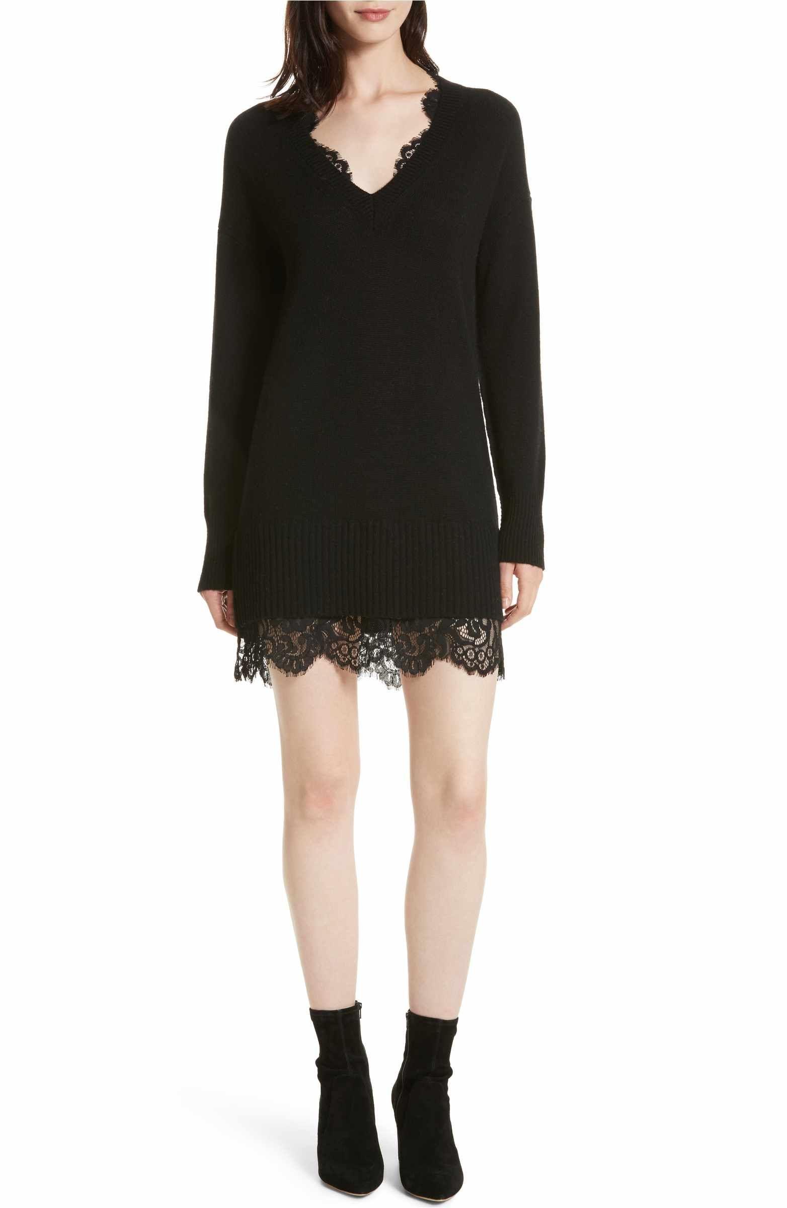 76f71dace73 Main Image - Brochu Walker Lace Looker Sweater Dress