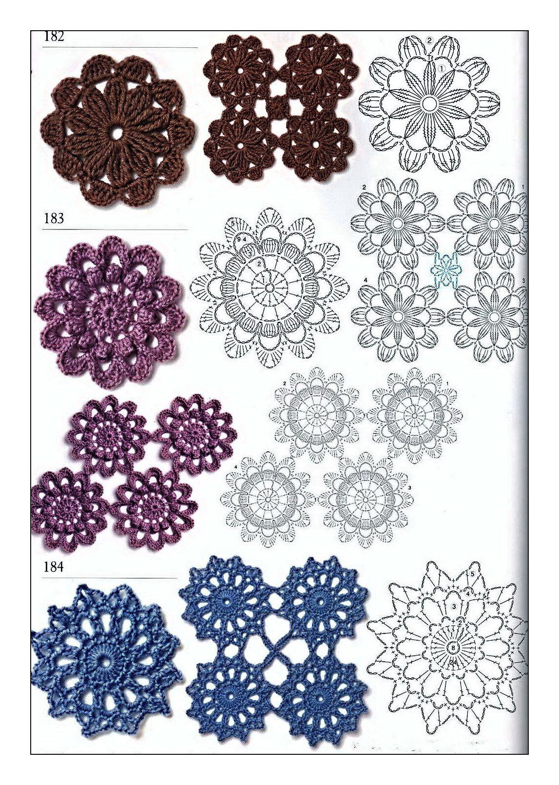 diagrams crochet circles | Crochet | Pinterest | Ganchillo, Tejido y ...