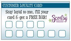 Did You Know Vistaprint Has Loyalty Cards Check Mine Out Loyalty Card Customer Loyalty Cards Scentsy