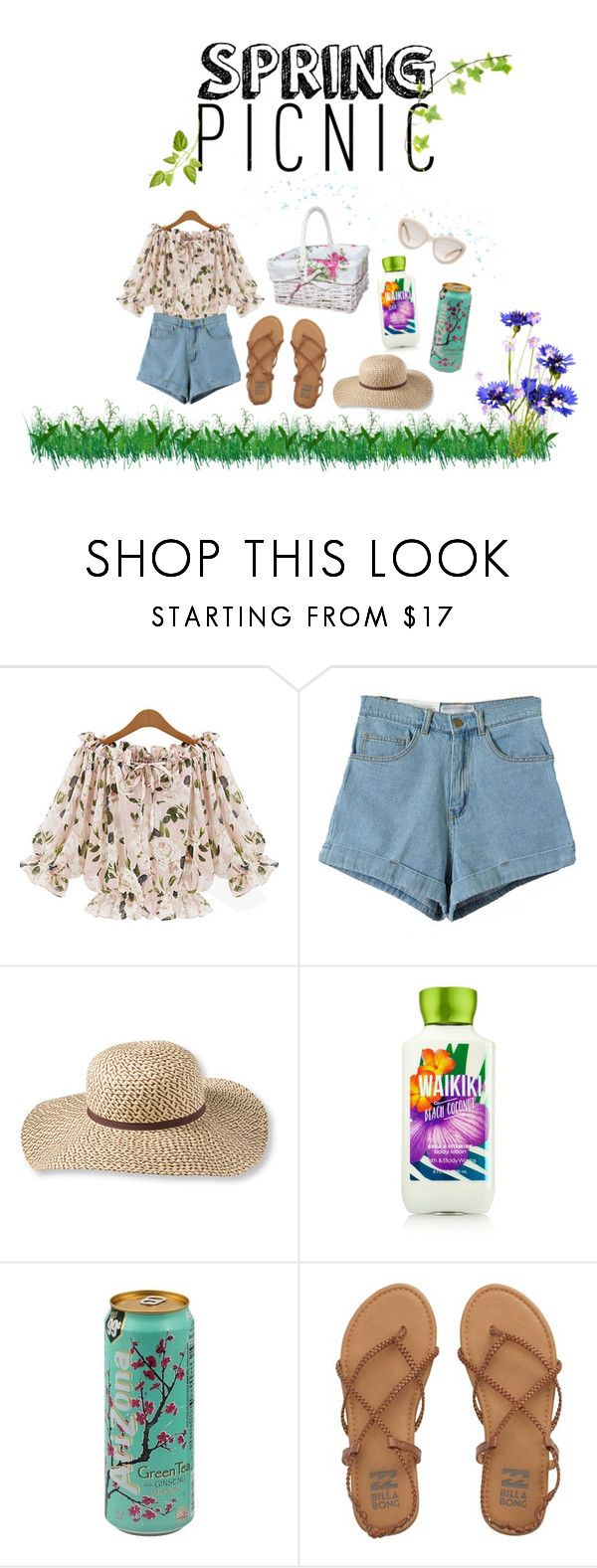 """Spring Style"" by riska-triatama ❤ liked on Polyvore featuring L.L.Bean, Billabong and Prada"