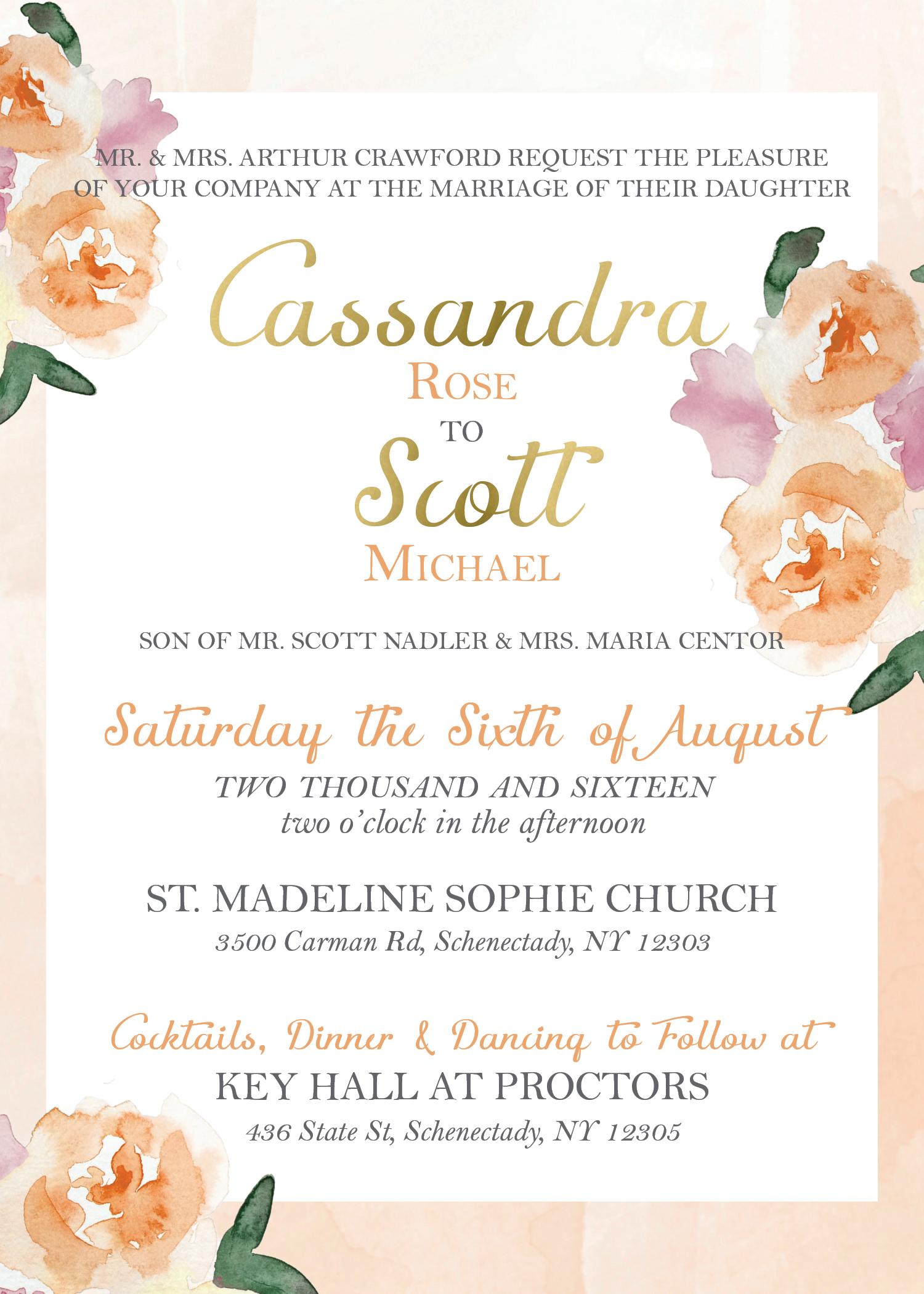 Summer Wedding Invitation, destination wedding invitations, blue ...