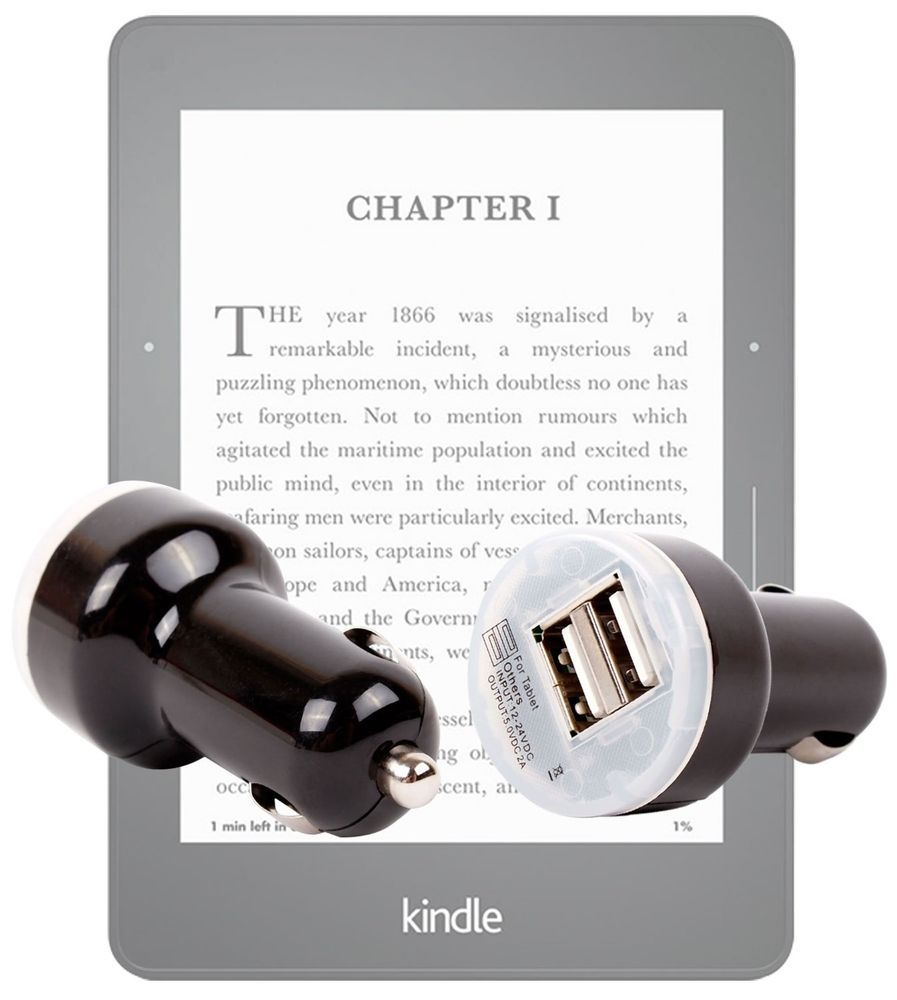 Duragadget 1 usb port car charger adapter for amazon kindle voyage amazon