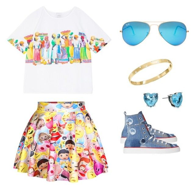 """summer style"" by abbey-ceee ❤ liked on Polyvore featuring Dsquared2, Swarovski, Ray-Ban and Betsey Johnson"