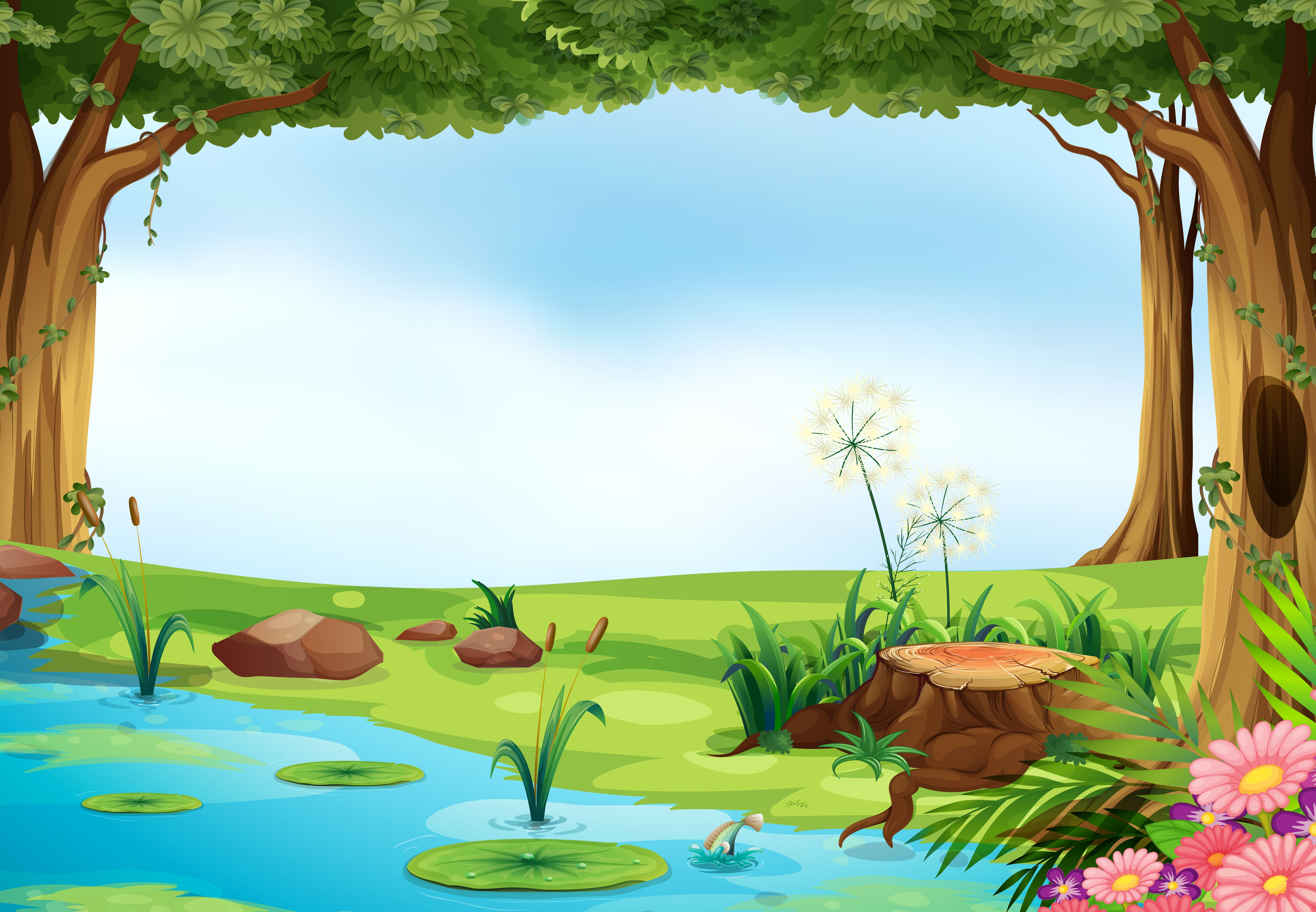 Pin By Roshida Mohamed Aris On Banner Artsy Background Colorful Landscape Spring Painting