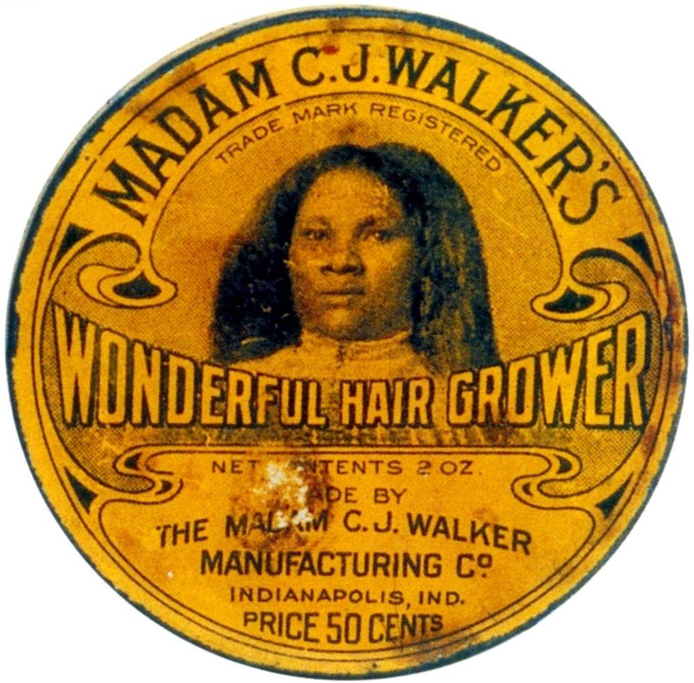 Madam CJ Walkers Wonderful Hair Grower Rolled Canvas Art