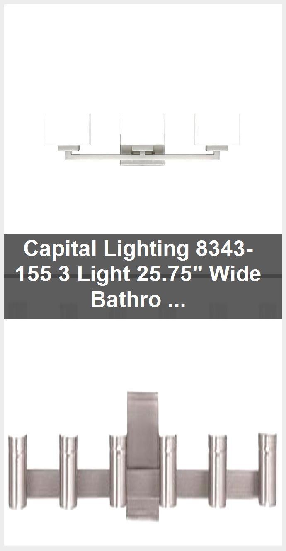 Photo of Capital Lighting 8343-155 3 Light 25.75″ Wide Bathroom Fixture – Brushed Nickel,  #Bathroom #…