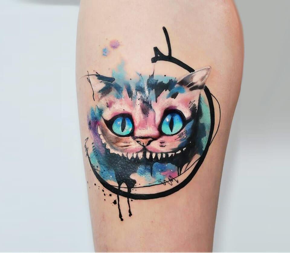 Photo Cheshire Cat Tattoo By Aleksandra Katsan Photo 17747 Cheshire Cat Tattoo Disney Tattoos Cat Tattoo