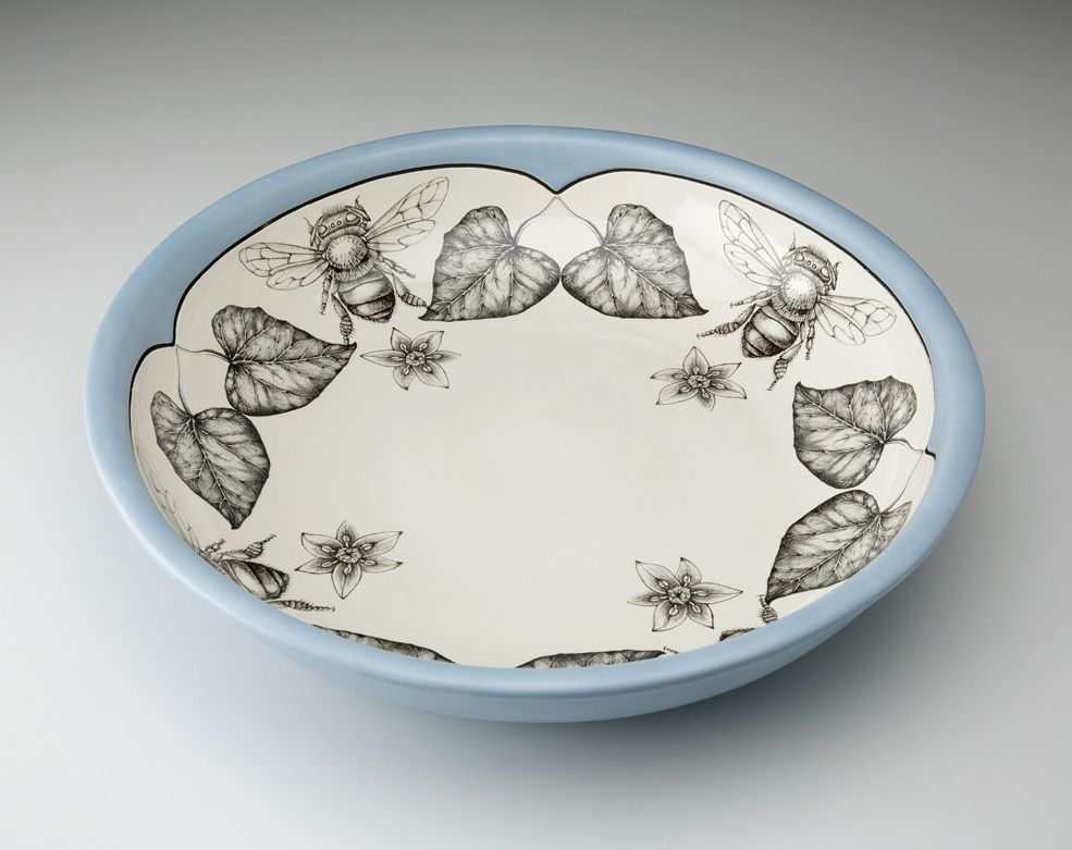 Handmade homeware collection including ceramic dinnerware serviceware and textiles for the home. & Small Pasta Bowl: Honey Bee   Small pasta and Dinnerware