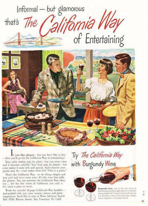The California Way - Vintage California Burgundy Wine ad