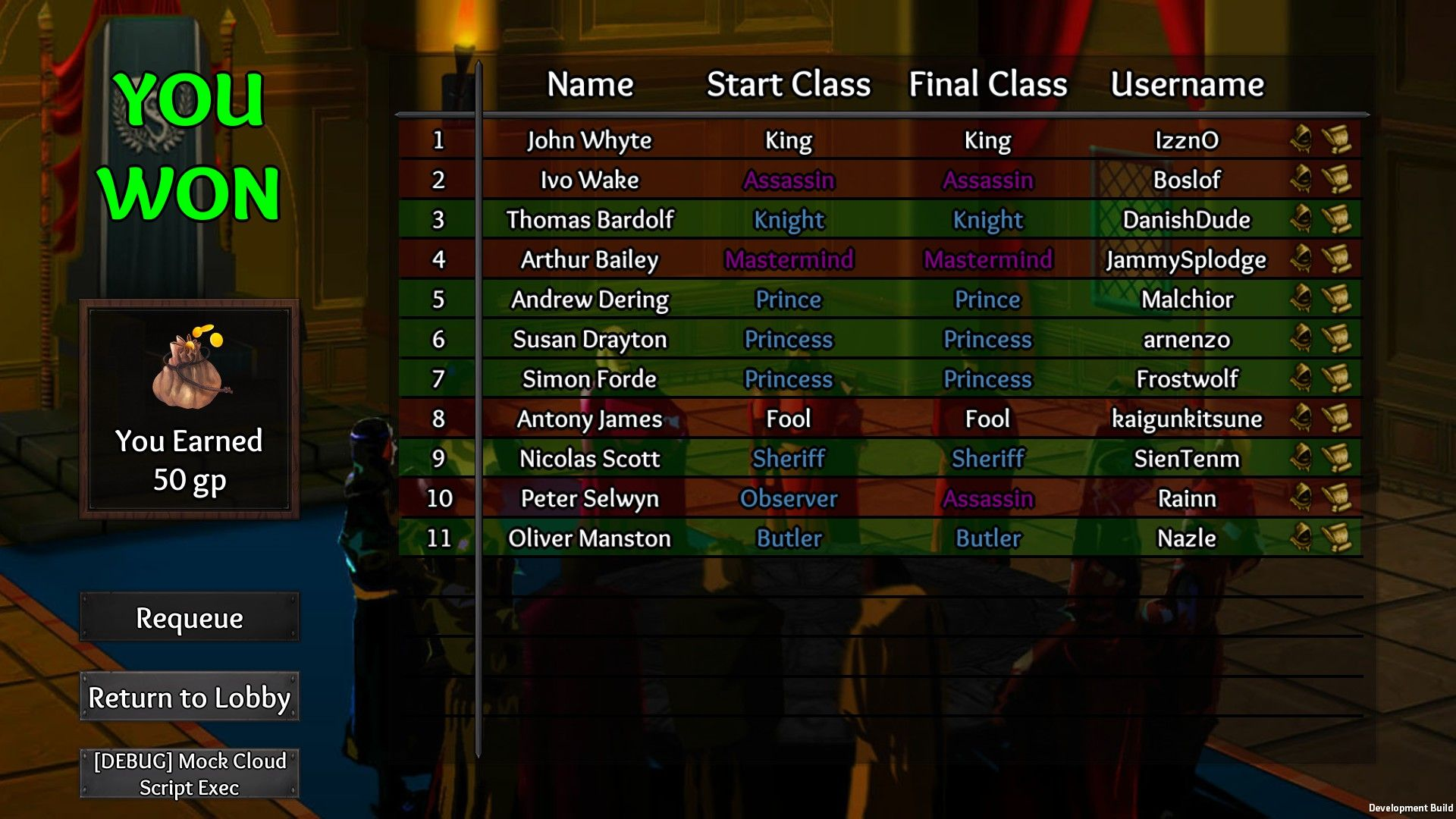 More on Throne of Lies Game ClosedAlpha Final class