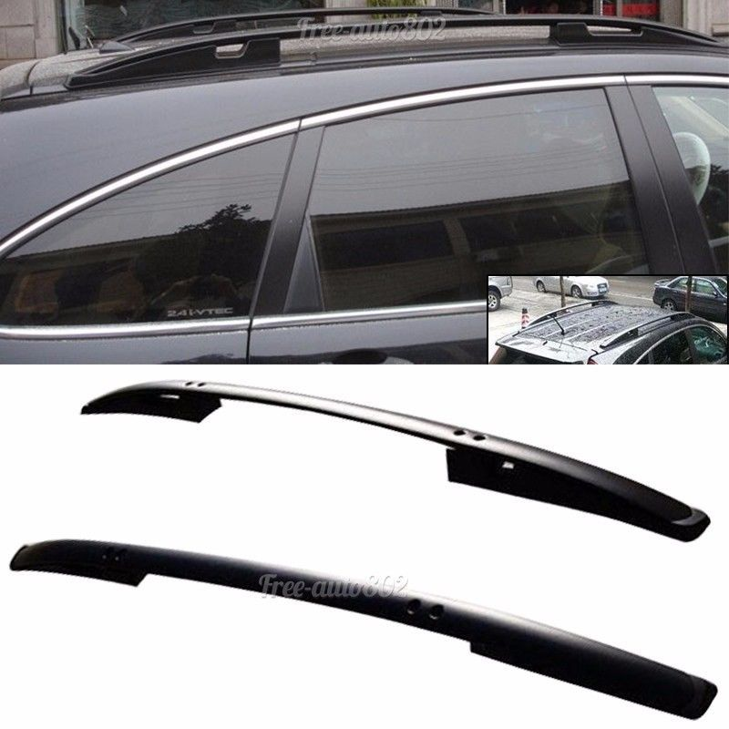 Fit For 2007 2011 Honda Crv Oe Factory Style Roof Rack Black Side Rail Bar Honda Crv Roof Rack Honda