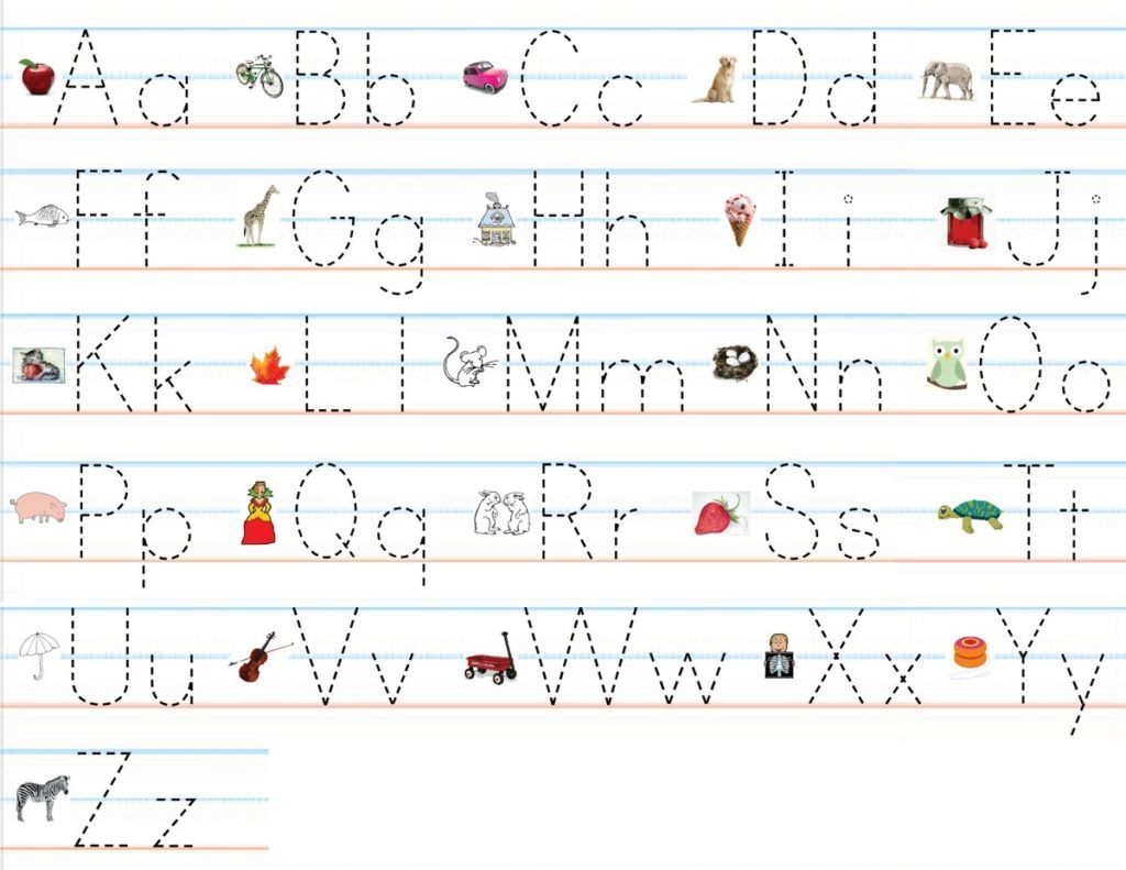 Alphabet Practice Worksheets To Print In
