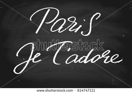 How to write i love in french