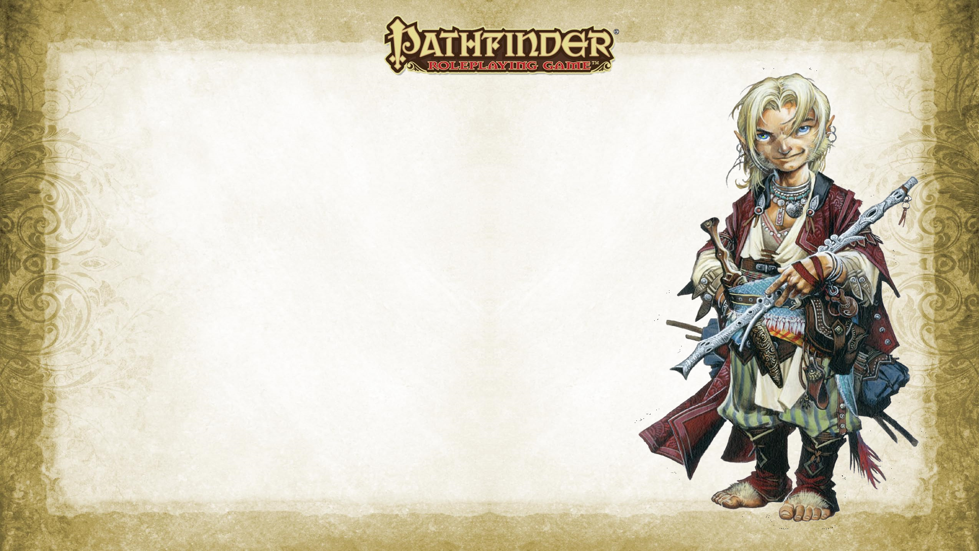 Wallpaper 1920x1080 Halfling Bard Created From Pathfinder