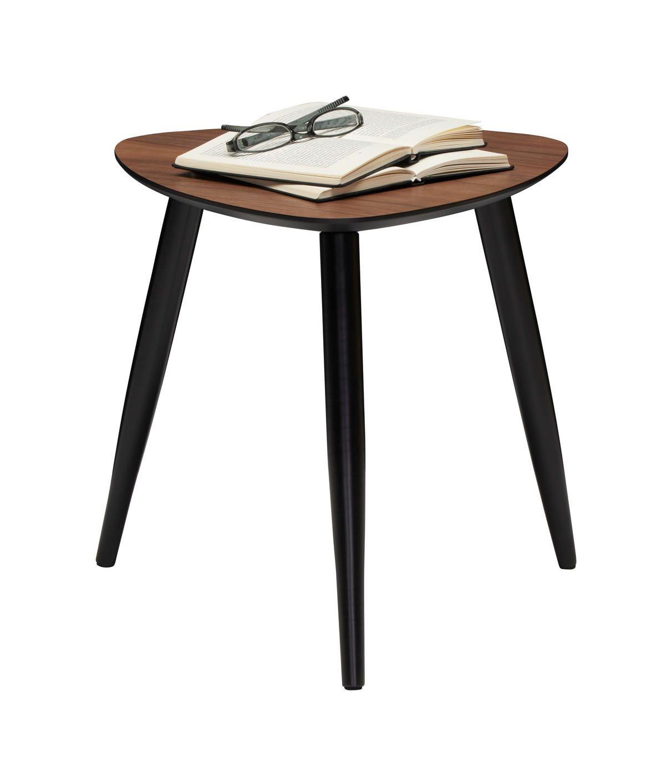 Kleiner Beistelltisch Mit Dunkler Holz Platte Und Fussen In Schwarz Beistelltische Beistelltisch Tisch