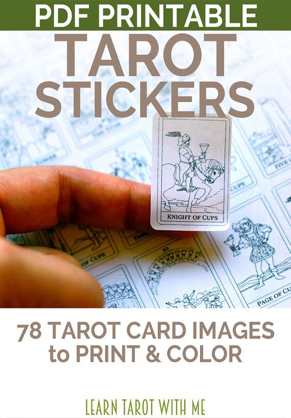 Printable tarot deck sticker set simple 78 tarot card planner stickers tarot journal stickers