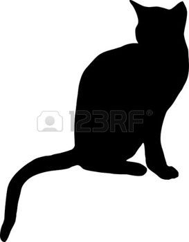 Silhouette chat illustration d 39 un chat noir illustration chats pinterest silhouette chat - Chat noir dessin ...