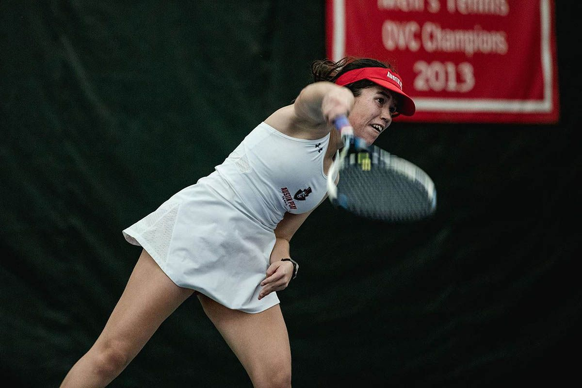APSU Women's Tennis continues dominant play sweeping