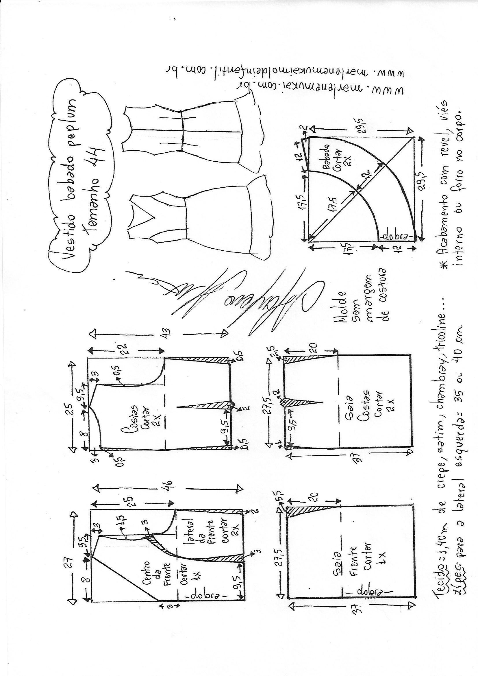 vestido.peplum-44.jpg (1654×2338) | Costura con patrones | Pinterest ...