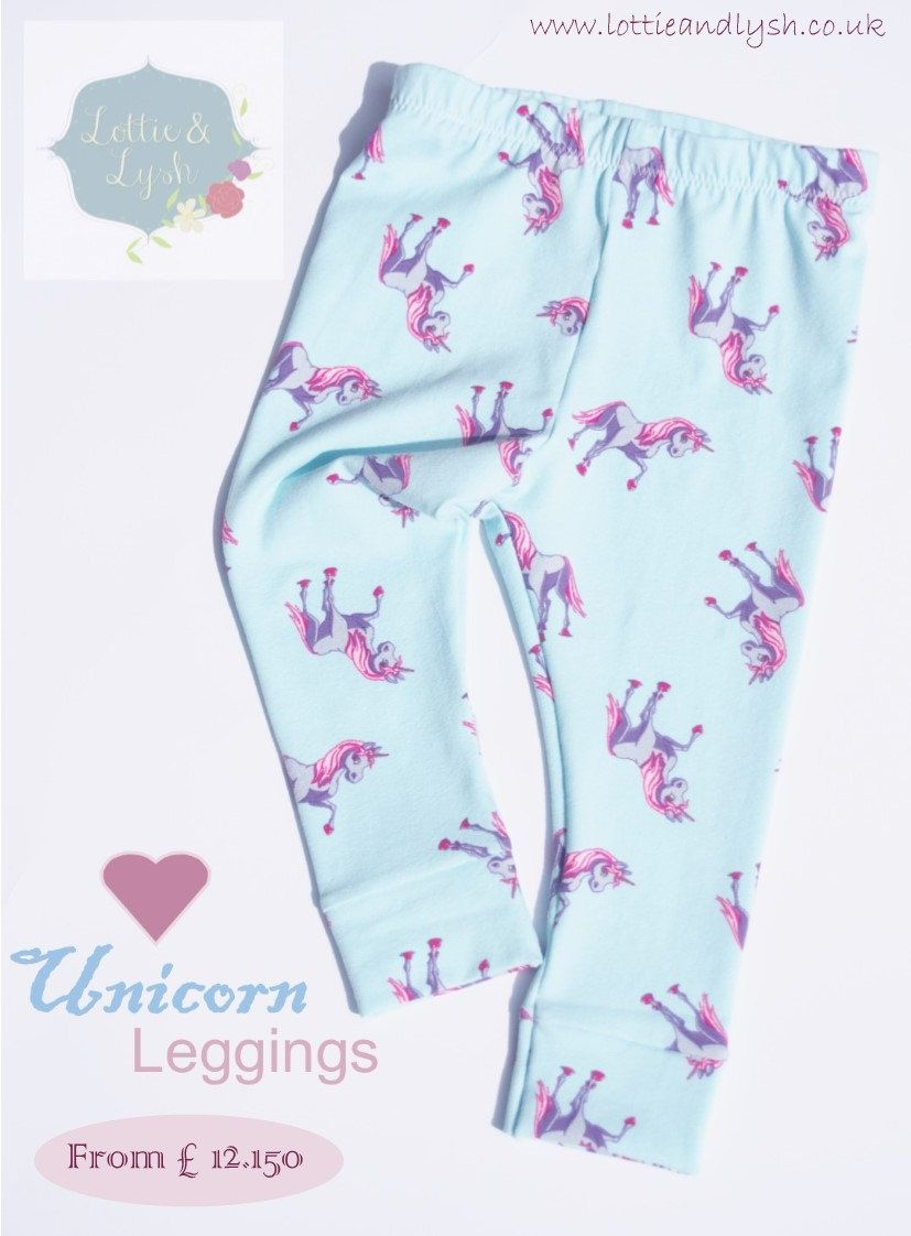 00890d128 Unicorn Baby Leggings, printed leggings with unicorns, blue and pink, girls  leggings, available for babies, toddlers and children - pinned by  pin4etsy.com