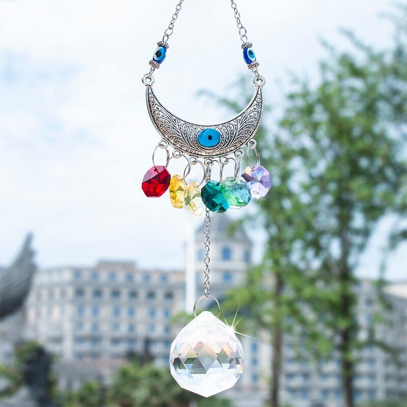 Evil Christmas Tree: Chakra Suncatcher 30mm Crystal Ball Pendant Wall Hanging