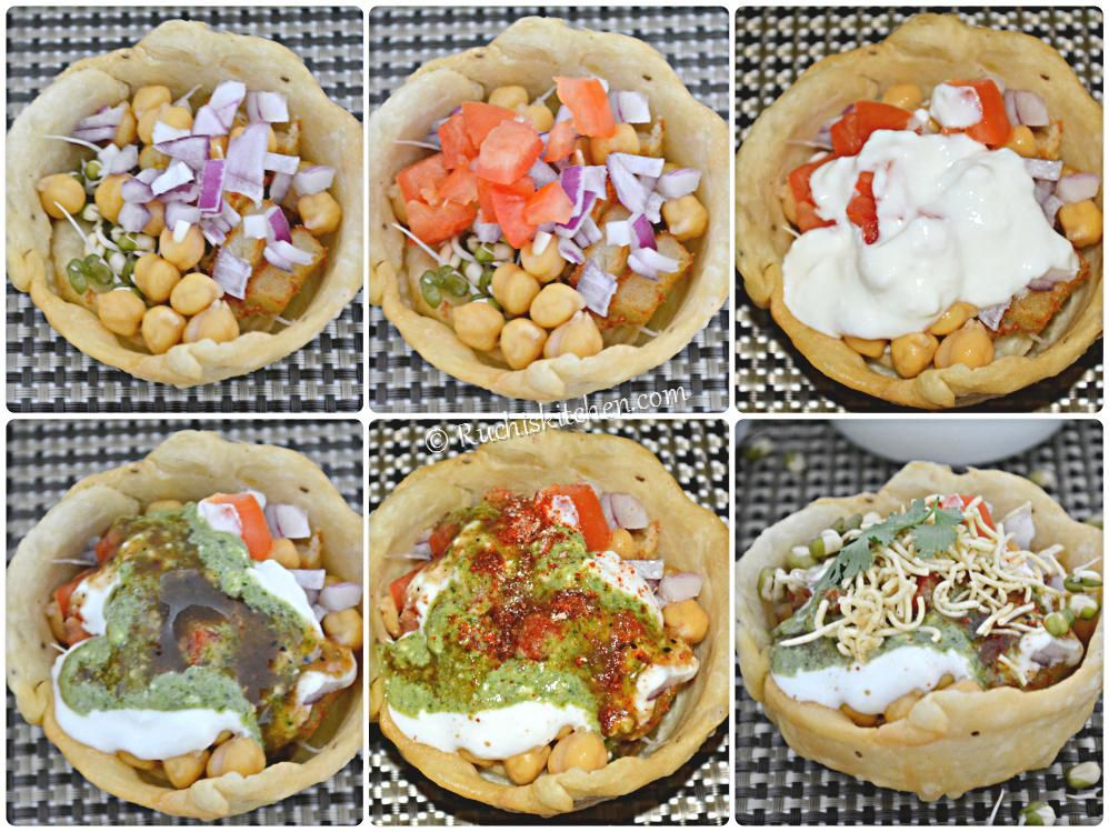 Step by step katori chaat recipe. Katori or tokri refers to a bowl or canopies that are filled with potatoestomatoes and chutneys & Katori chaat fried filled | try food at home | Pinterest | Chaat ...
