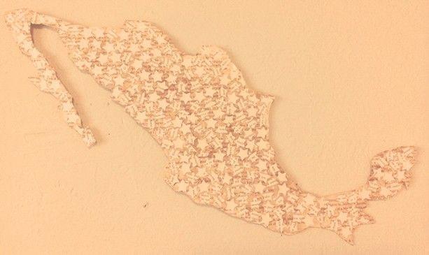 El mapa que cuelga en mi pared.