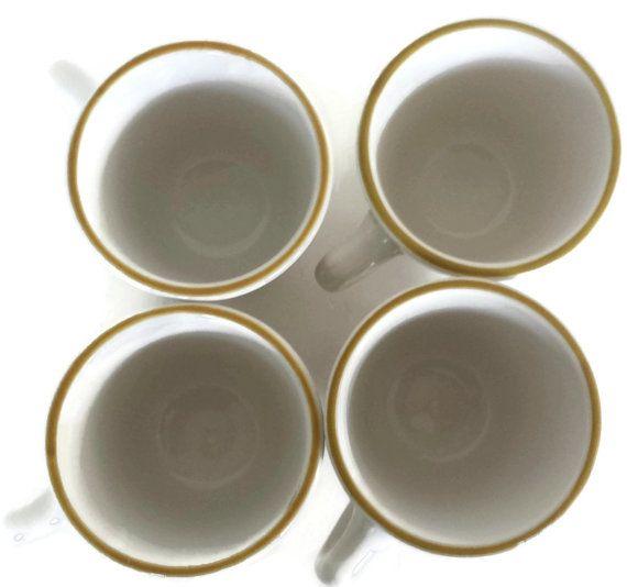 Syracuse China Mugs Coffee Cups Restaurant Ware Set 4