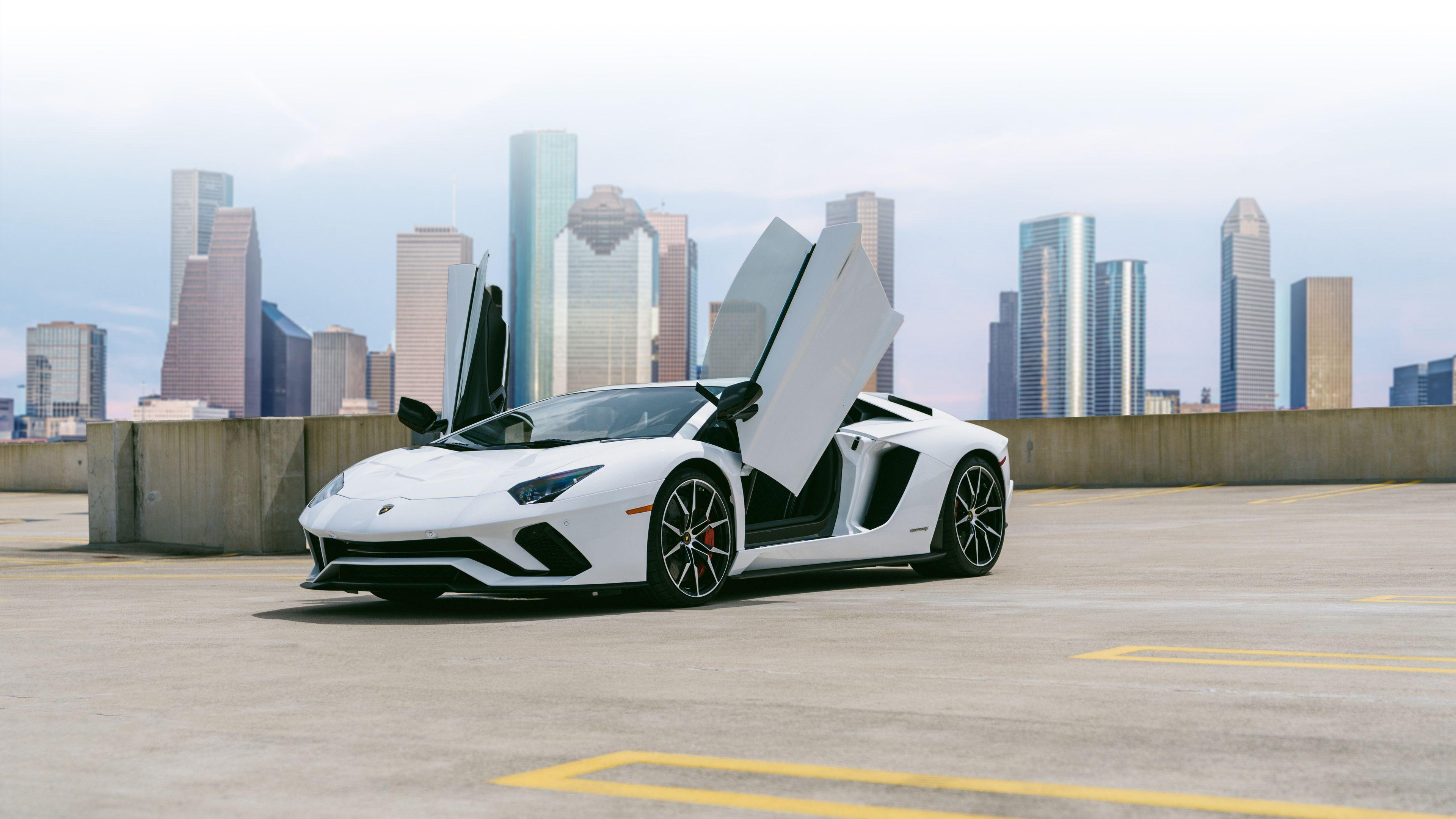 White Lamborghini Aventador 4k 2018 Lamborghini Wallpapers