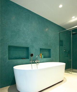 Tadelakt badkamer - Foto: Lartierra verwerker: Lartierra | Meerstad ...