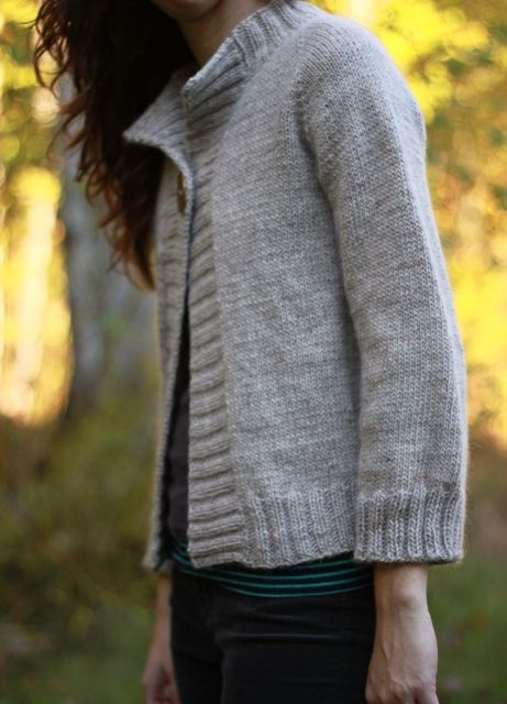 The Brown Stitch Top Down Knitting Pattern Concetta Cardigan