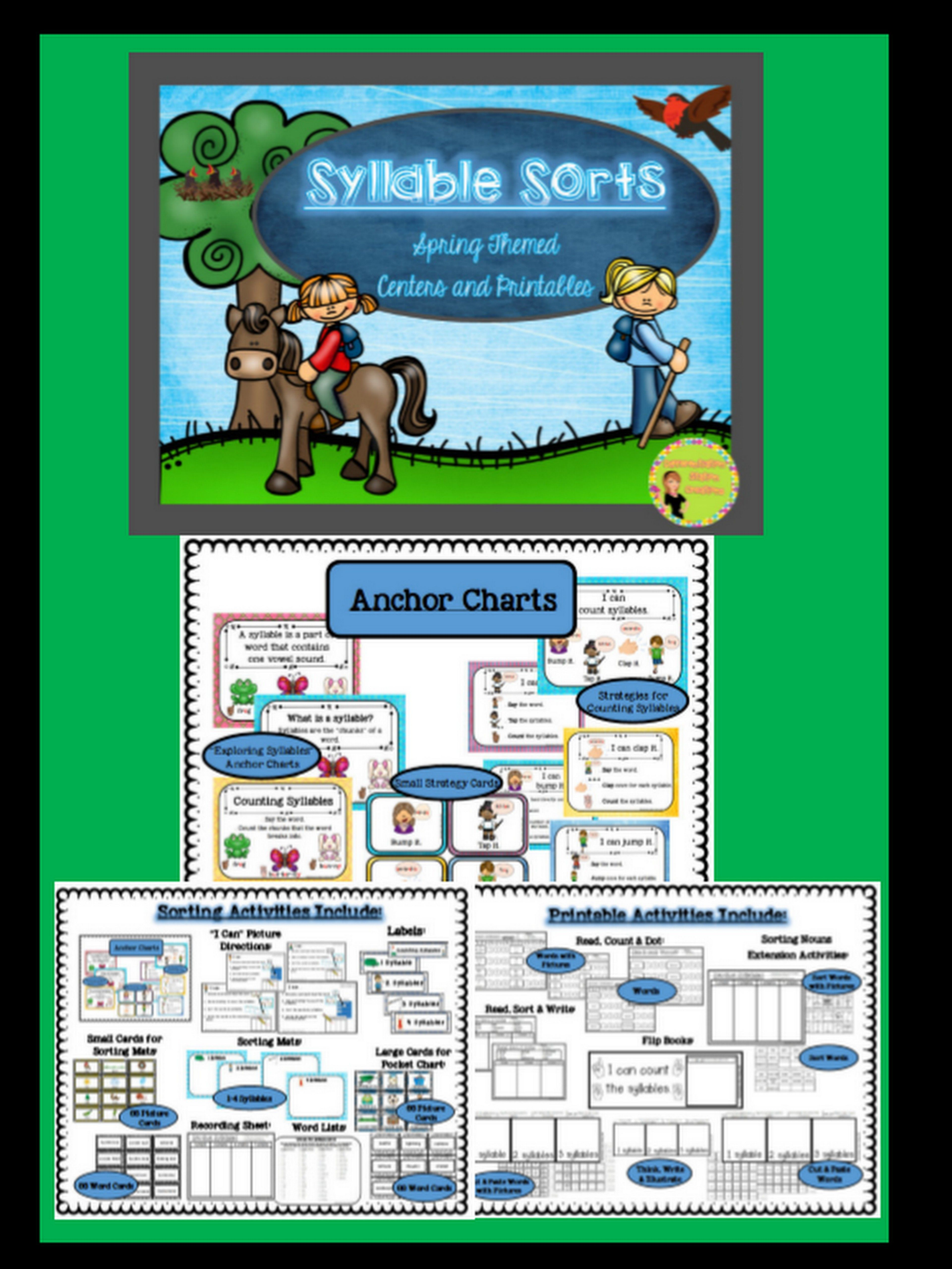 Syllable Sorts Spring