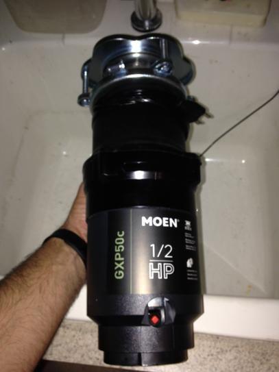Moen GXP50C GX PRO Series 1//2 hp Garbage Disposal