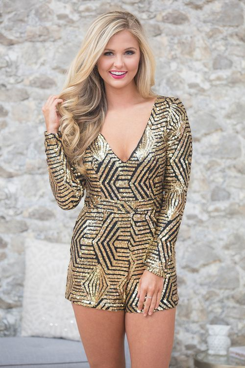 09980be416 You're sure to be the star of any event in this stunning sequin romper!