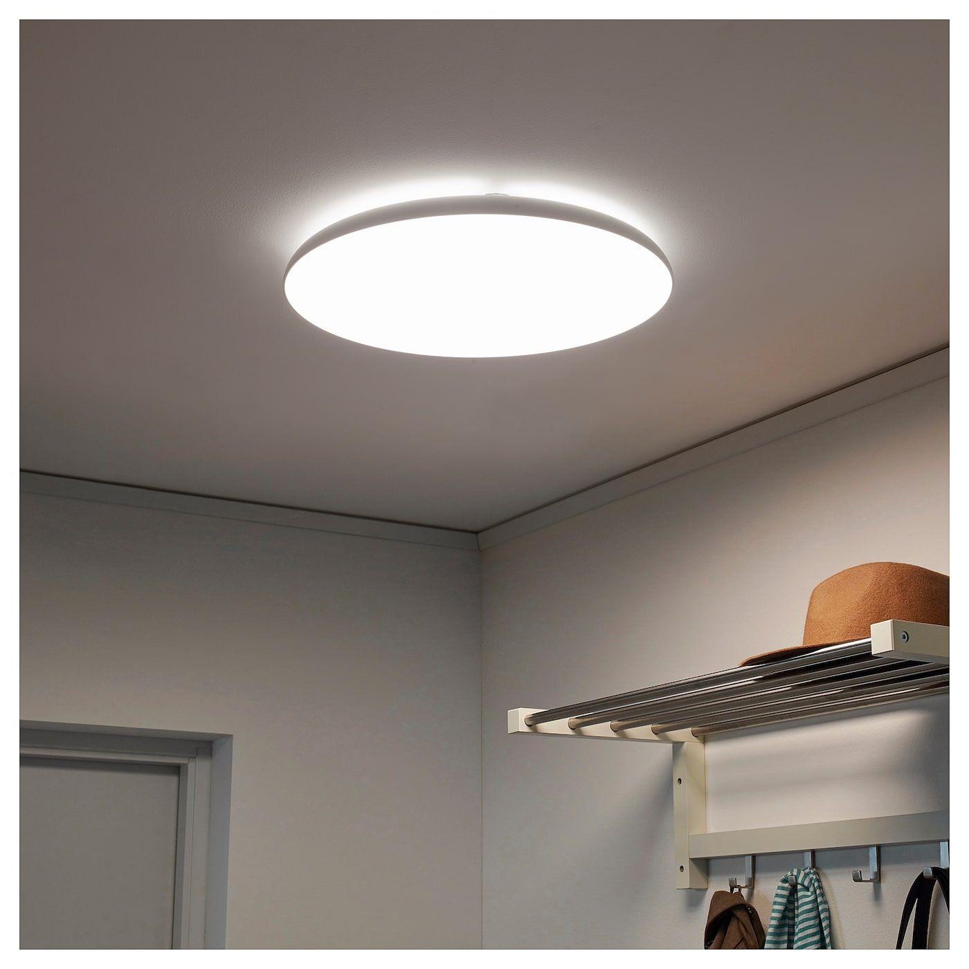 Nymane Led Ceiling Lamp White Ikea Ceiling Lamp White Ceiling Lamp Ceiling Lamp Design