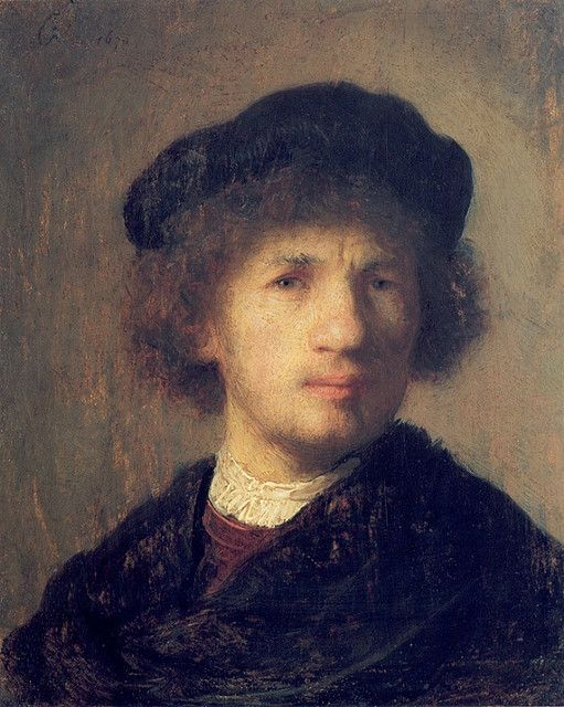 Rembrandt van Rijn - 1630 Self-portrait - Stockholm, Nationalmuseum