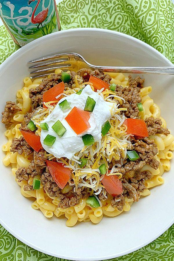 Taco Mac and Cheese - Foodtastic Mom