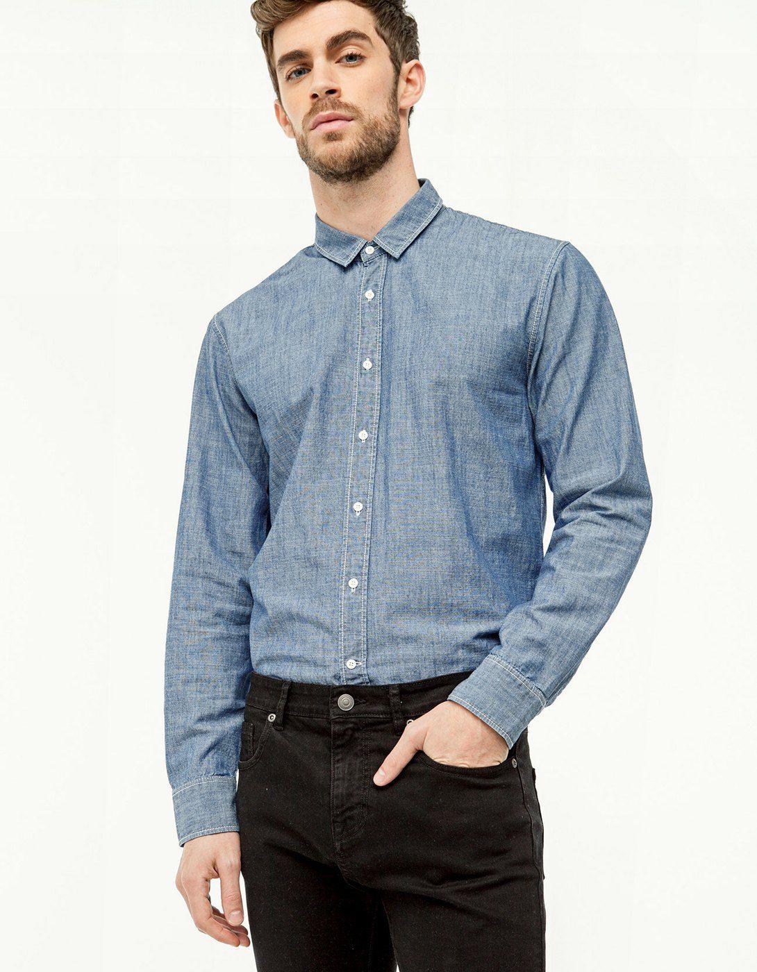 Camisa manga larga chambray - Camisas | Stradivarius España