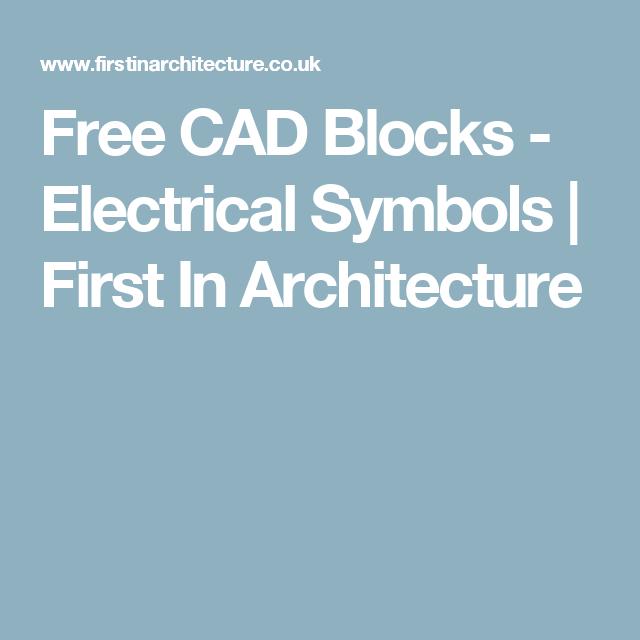 Free Cad Blocks Electrical Symbols Architecture Pinterest
