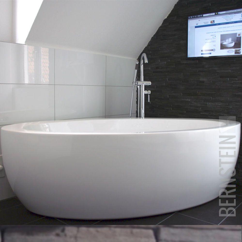 bernstein design badewanne freistehende wanne modena acryl armatur in heimwerker bad k che. Black Bedroom Furniture Sets. Home Design Ideas