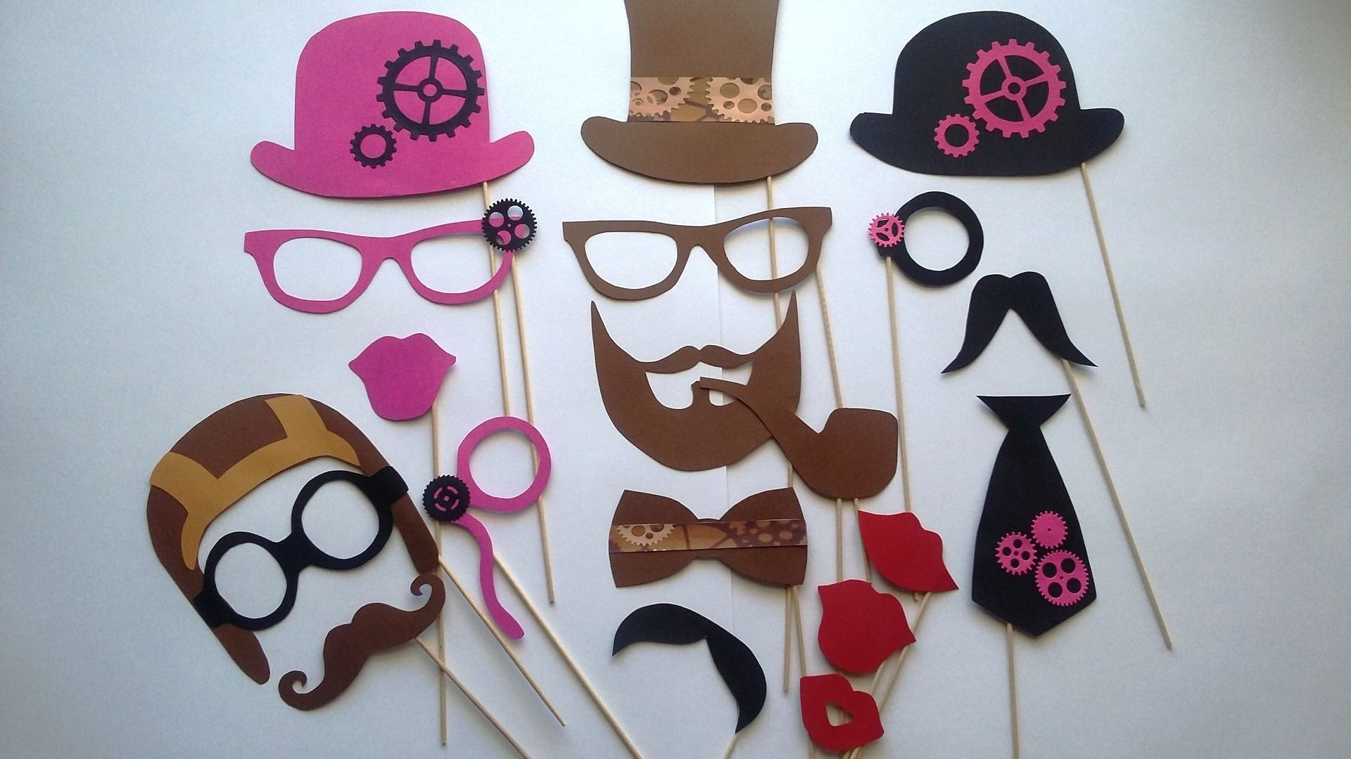 accessoires photobooth x 19 steampunk mariage. Black Bedroom Furniture Sets. Home Design Ideas