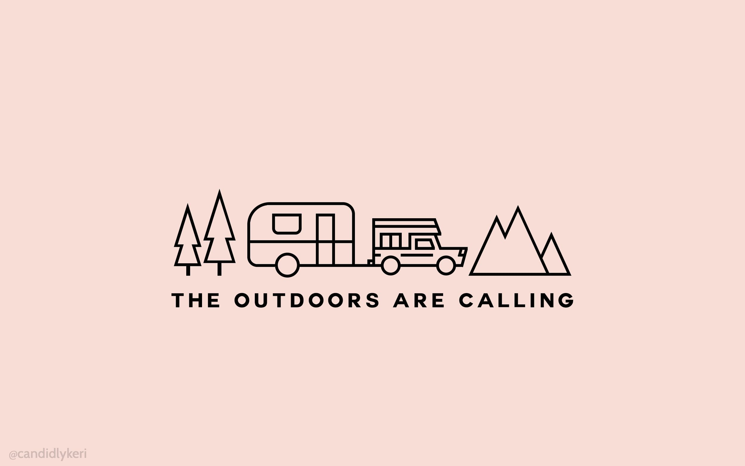 The Outdoors are Calling | Aesthetic desktop wallpaper ...