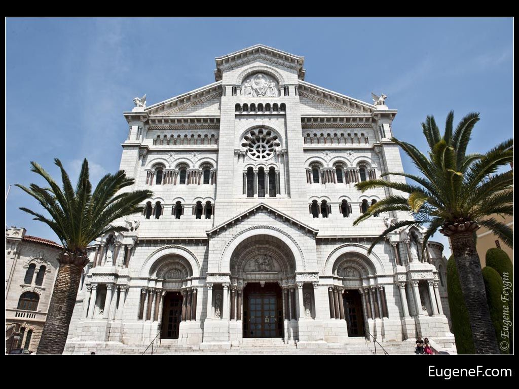 Monaco cathedral palm trees monacoarchitecture freewallpapers